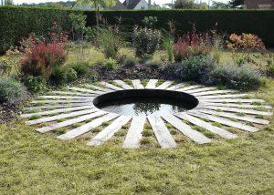 Colver créateur jardin paysagiste oise noyon compiègne aménagement bassin ornemental eau traverses chemin de fer