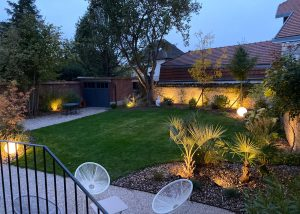 Colver créateur jardin paysagiste oise noyon compiègne aménagement éclairage extérieur boule lumineuse spot
