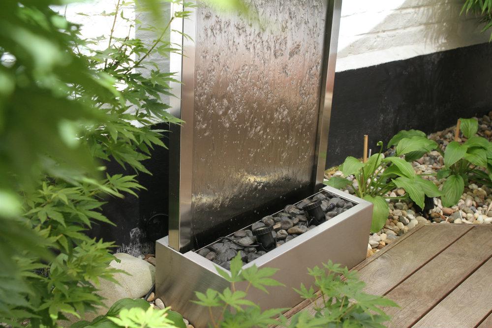 Colver créateur jardin paysagiste oise noyon compiègne aménagement fontaine contemporaine moderne mur eau