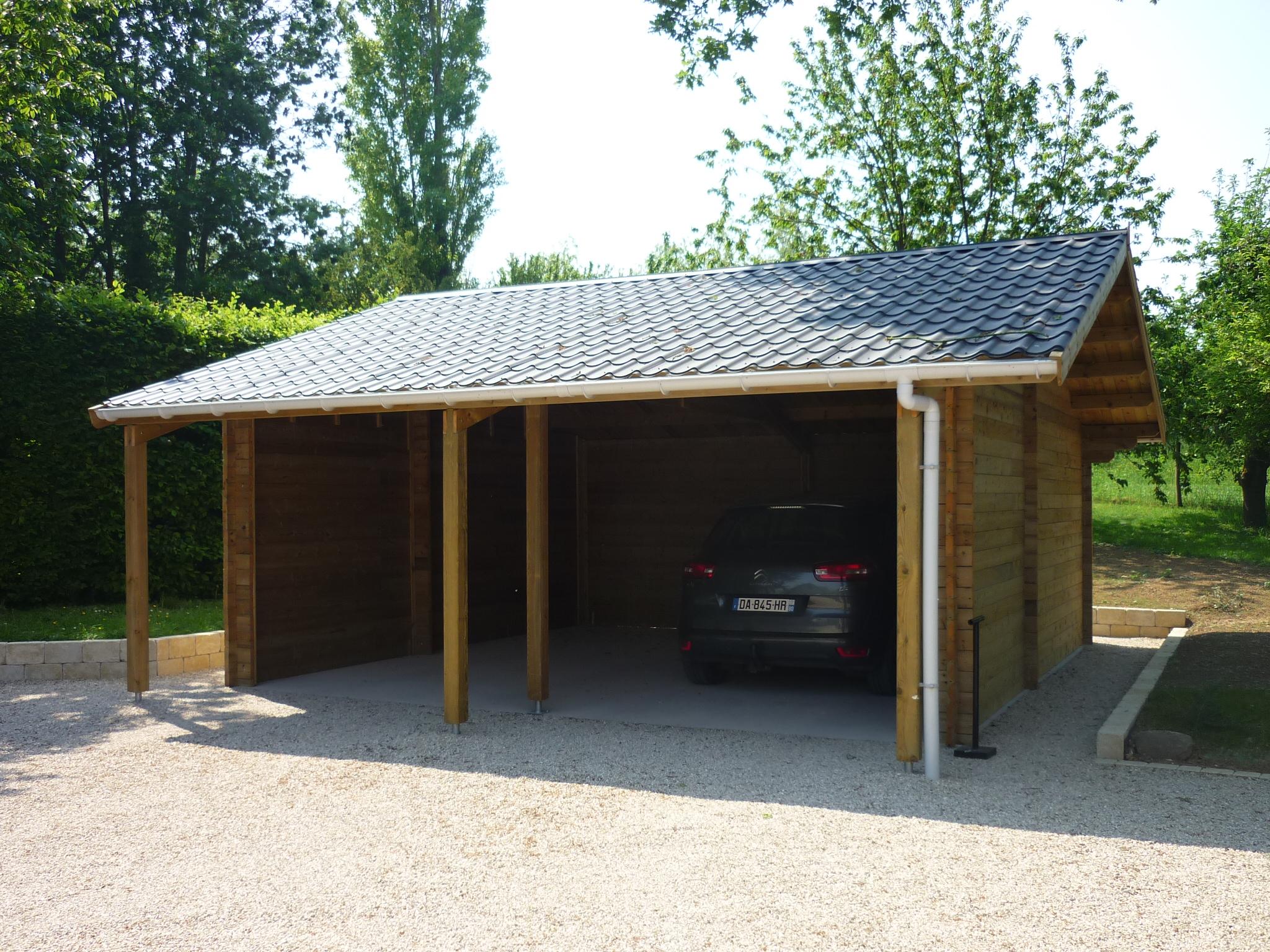Colver créateur jardin paysagiste oise noyon compiègne création carport garage bois