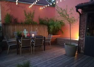 Colver créateur jardin paysagiste oise noyon compiègne éclairage extérieur terrasse boule lumineuse spot